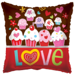 "18"" Love Cupcakes Pillow Balloon"